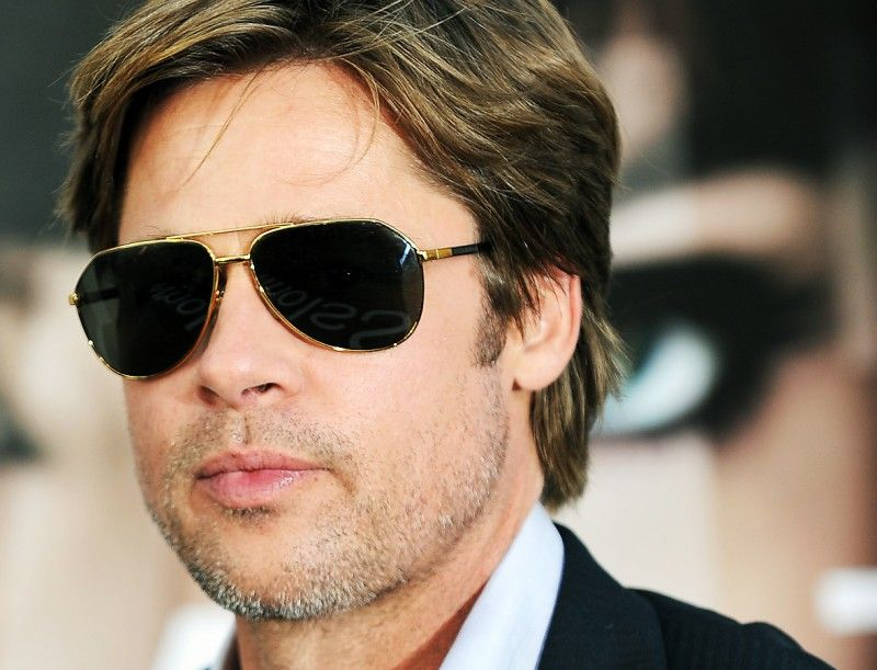 6f1f3adb212c Get Brad Pitt s favorite aviators from globaleyeglasses  sunnies  aviator…