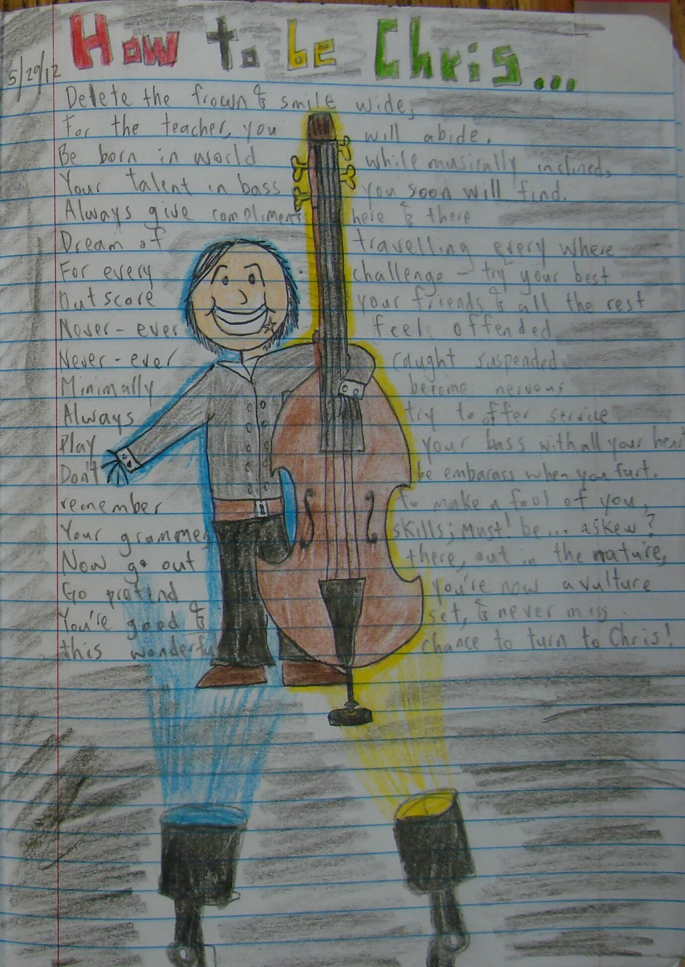 """8th grader Chris won a 2012 """"Mr. Stick of the Year"""" award with this poems about himself.  Check out my """"Mr. Stick"""" online resources: http://corbettharrison.com/Mr_Stick.html"""