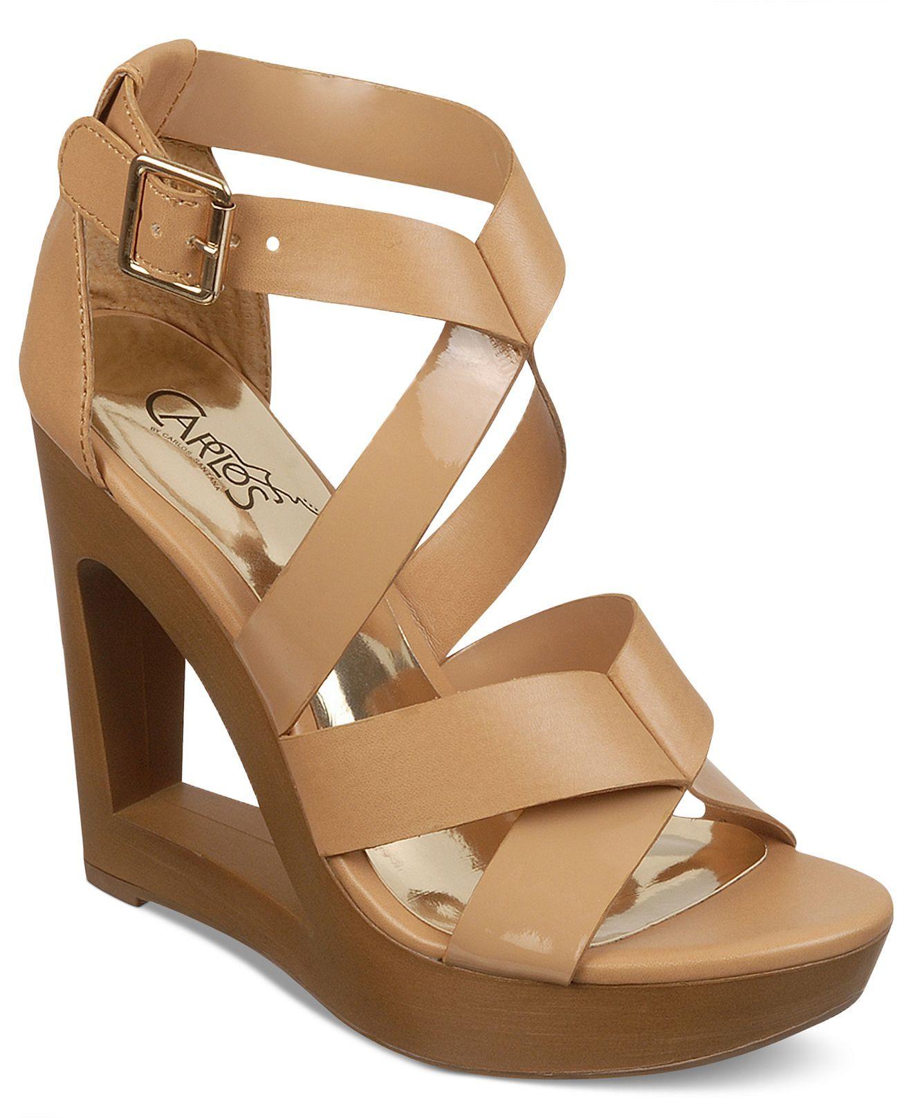 Carlos by Carlos Santana Shoes, Demi Platform Wedge Sandals