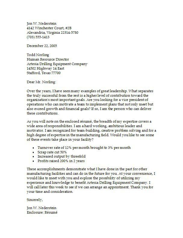 Operations Production Cover Letter Example Cover letter example - operations manager cover letter
