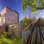 Wild Guest House With Stunning Pedestrian Bridge Are Nature Friendly.