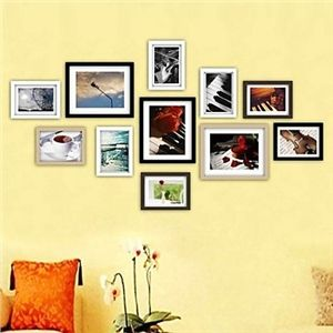 photo wall frame collection set of 11 fz 011 home decor. Black Bedroom Furniture Sets. Home Design Ideas