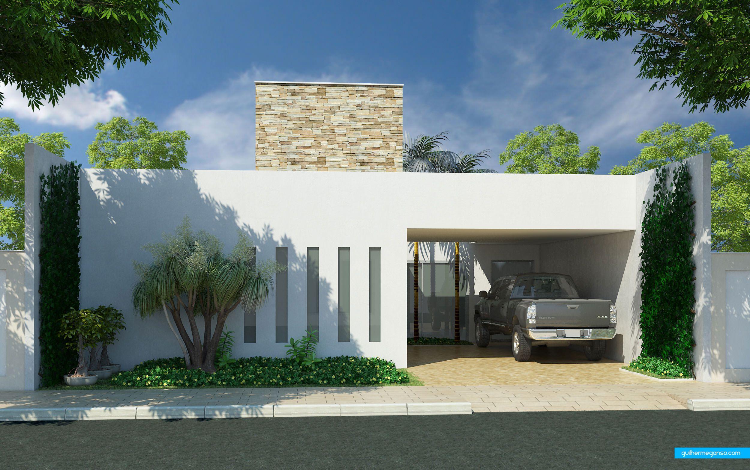 Maquete fachada 3d apartamento predio casa 3 casas for Casas 3d