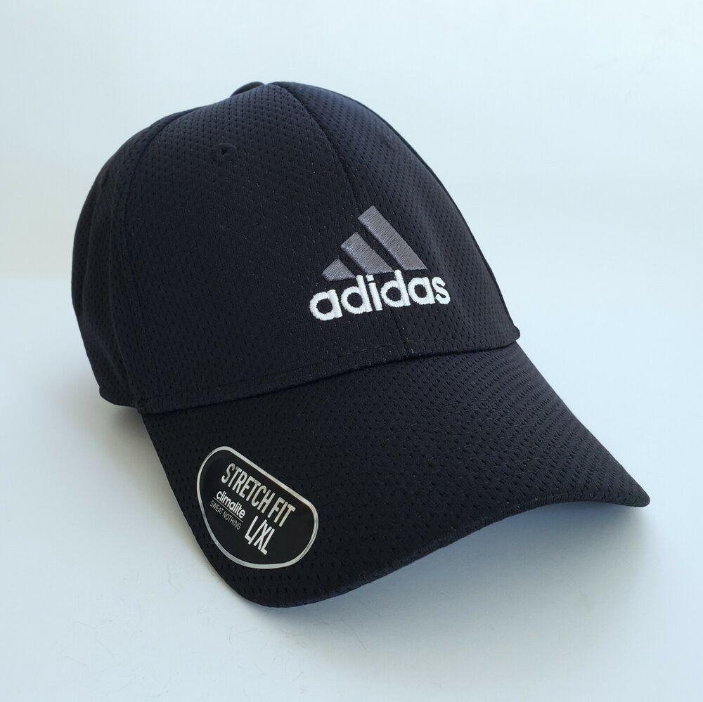 Adidas Signature Zags Ii A Flex Baseball Cap Hat Nwt Logo Black White Men S L Xl Adidas Baseballcap Casual Black And White Man Caps Hats Hats