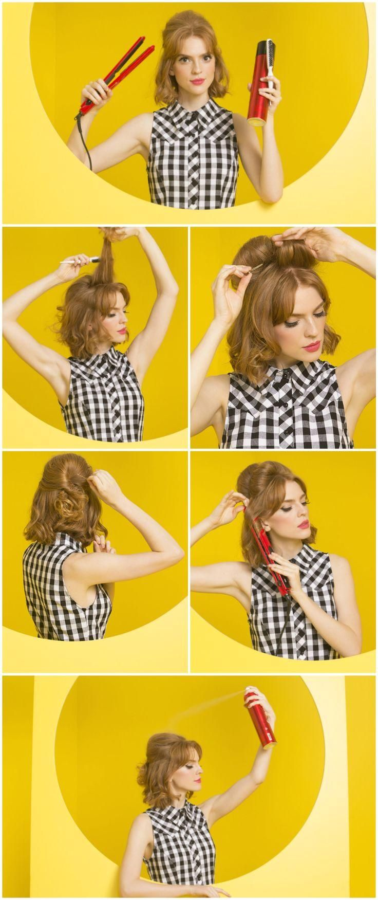 Easy and eye catching, this little bouffant is bound to make its way into your repertoire!