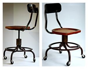 Western Electric Operator Swivel Chair Industrial Steampunk Drafting Shop Stool