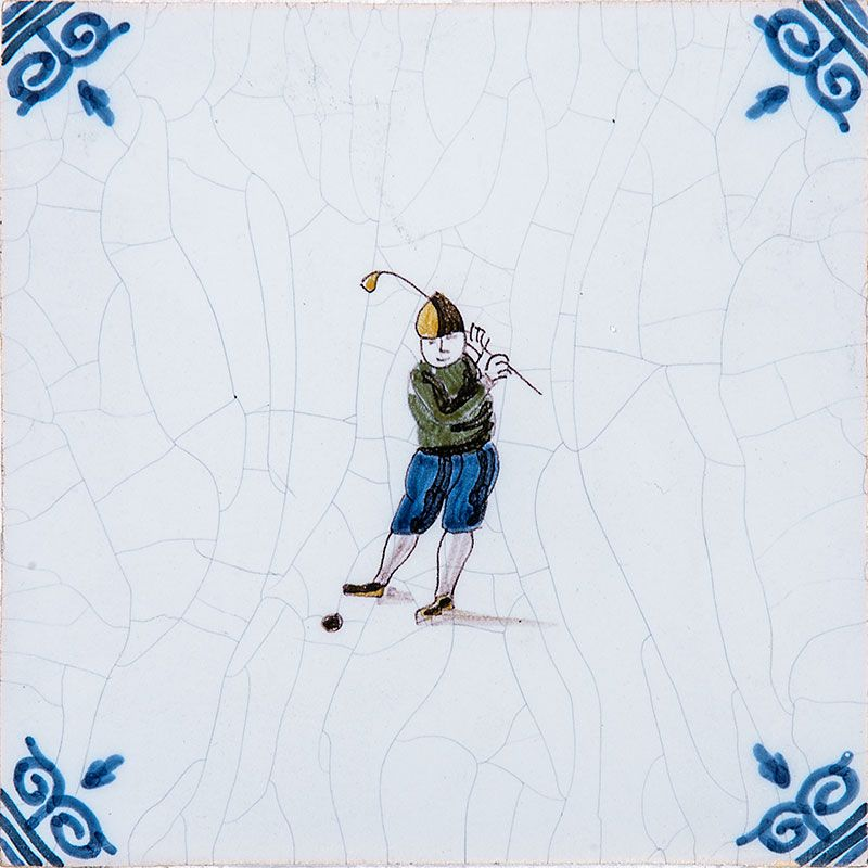 Golfers Poly Glazed Ceramic Tiles 5x5 | Country Floors of America