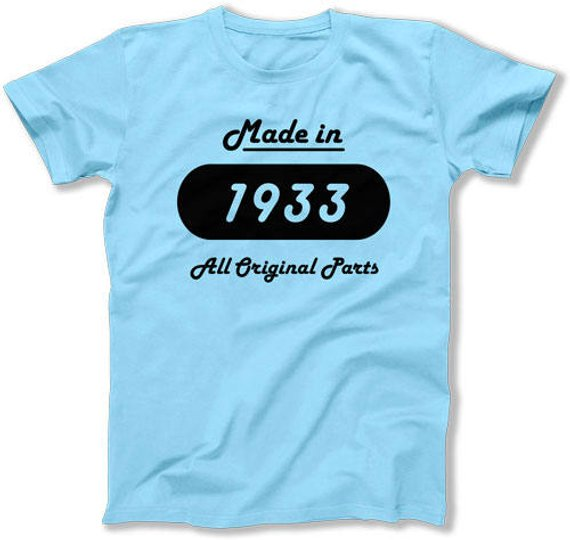 85th Birthday Gift Ideas For Him T Shirt Present Gifts Women Bday Made In