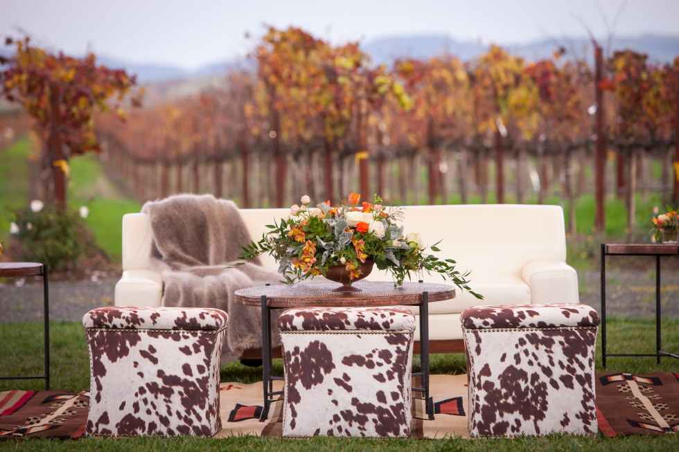 Bright Event Rentals Outdoor Seating Lounge Seating Animal Print Seating Cowhide Chairs Outdoor Rentals Lounge Rentals O Table Decorations Decor Lounge