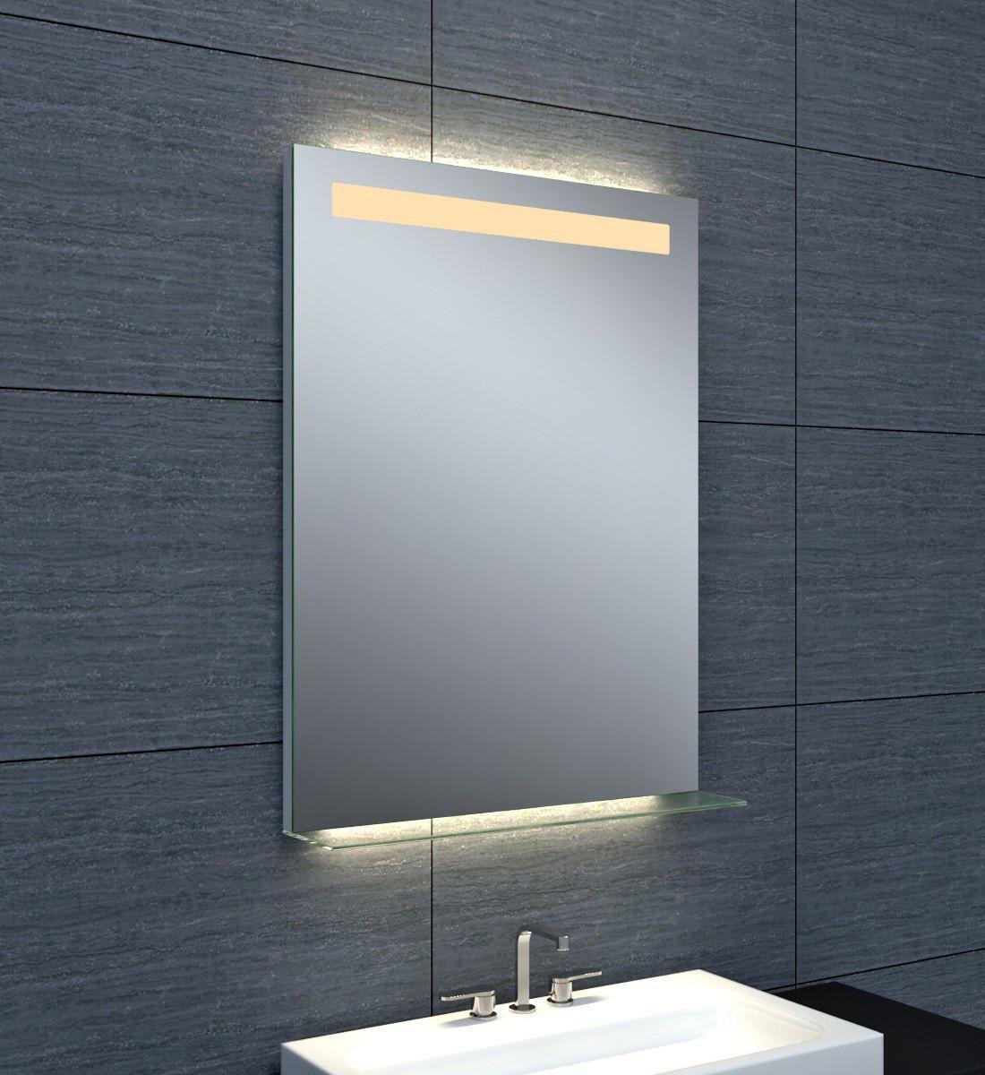 Tablette Salle De Bain 80 Cm miroir dubai éclairage led avec tablette en verre 60 x