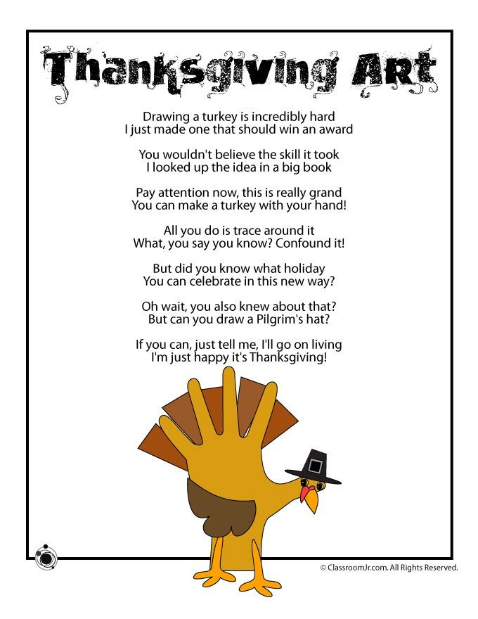 Thanksgiving Kids Poems - \