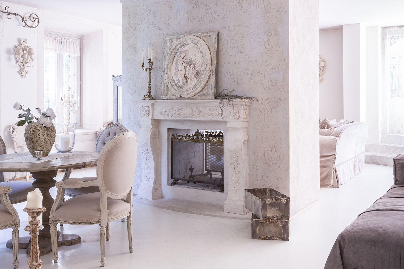 Villa respiro casa shabby chic brianza camino bifacciale my shabby chic pinterest shabby - Shabby chic casa ...
