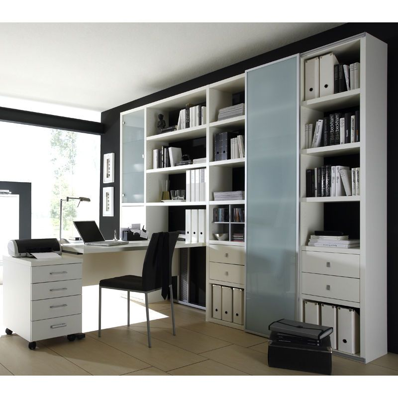 wohnzimmer aktenschrank mit schreibtisch lack wei b cherregal wohnwand schrank zuk nftige. Black Bedroom Furniture Sets. Home Design Ideas