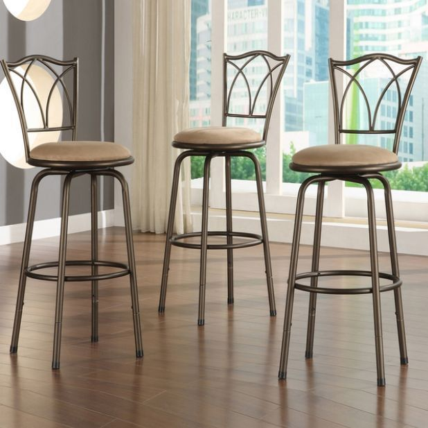 Tribecca Cross Swivel Back Barstools Set Of 3 Adjustable Kitchen Decor Bar Chair Adjustable Bar Stools Bar Furniture Bar Stools