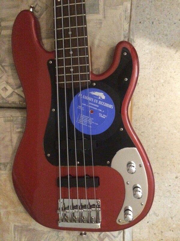 Squier Precision Special V Vinyl Record Handmade Pickguard With