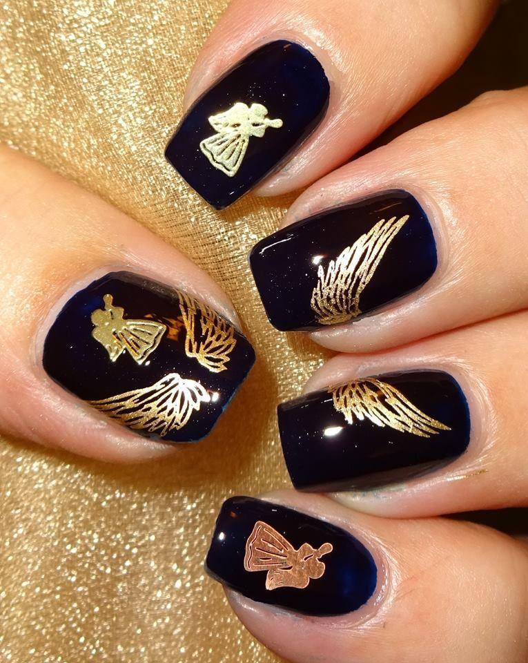 Charlies Nail Art Gold Guardian Angel Decals 25pcs 0 79