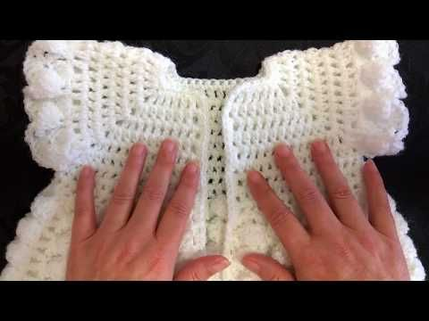 How to make Cute Crochet Baby Dress Abigail #Lace Tutorial Free ...