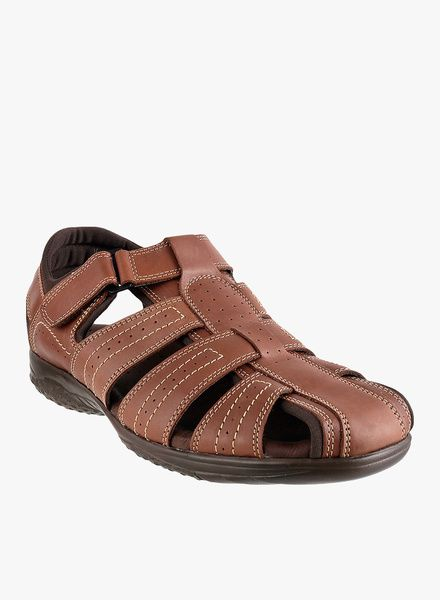 c7ba31527e831 Metro Shoes Men Formal Genuine Leather Sandals with a Velcro as a Closure  type