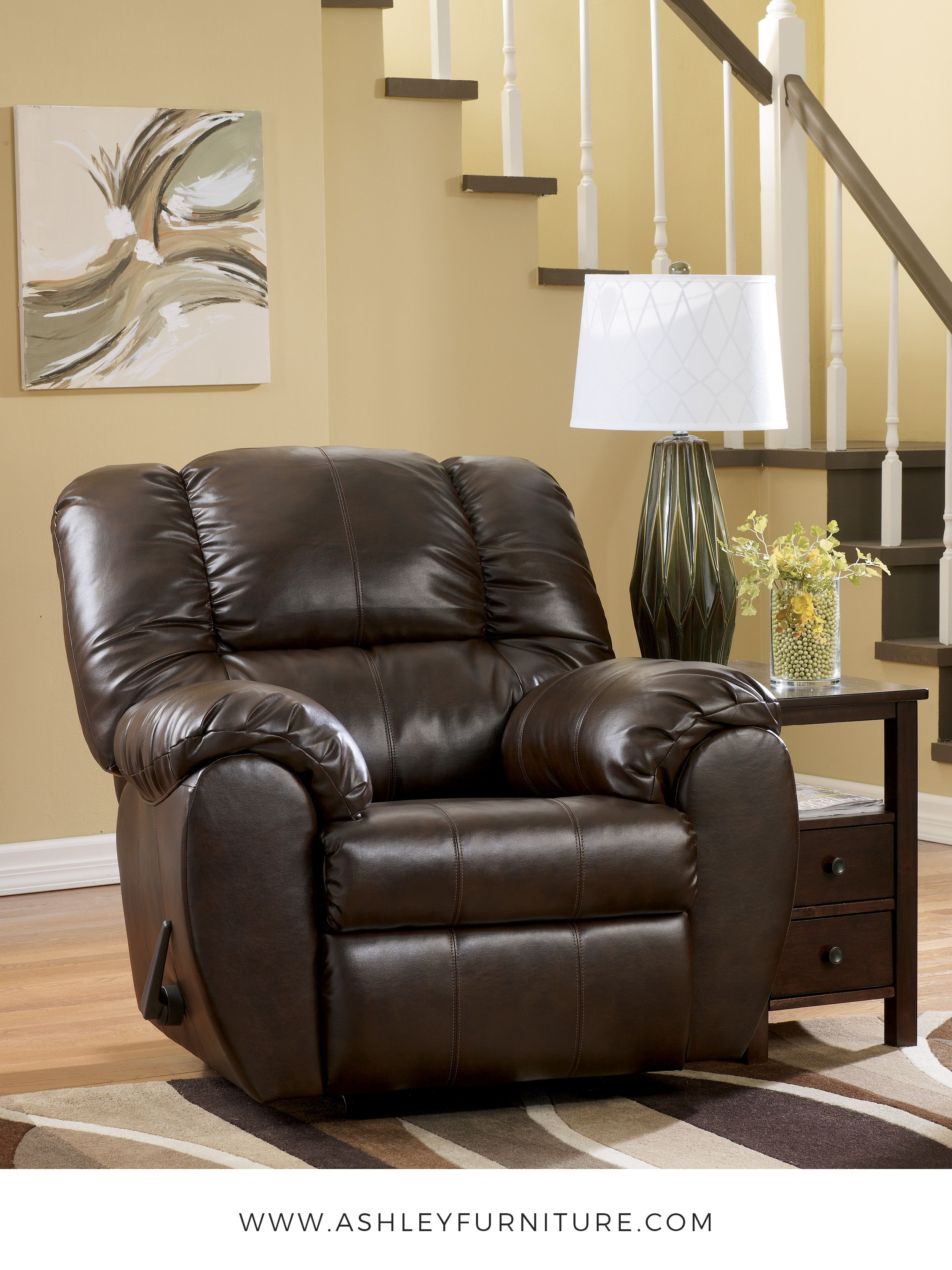Ashley Furniture Recliner Chairs Dylan Durablend Espresso Rocker Recliner By Ashley Furniture