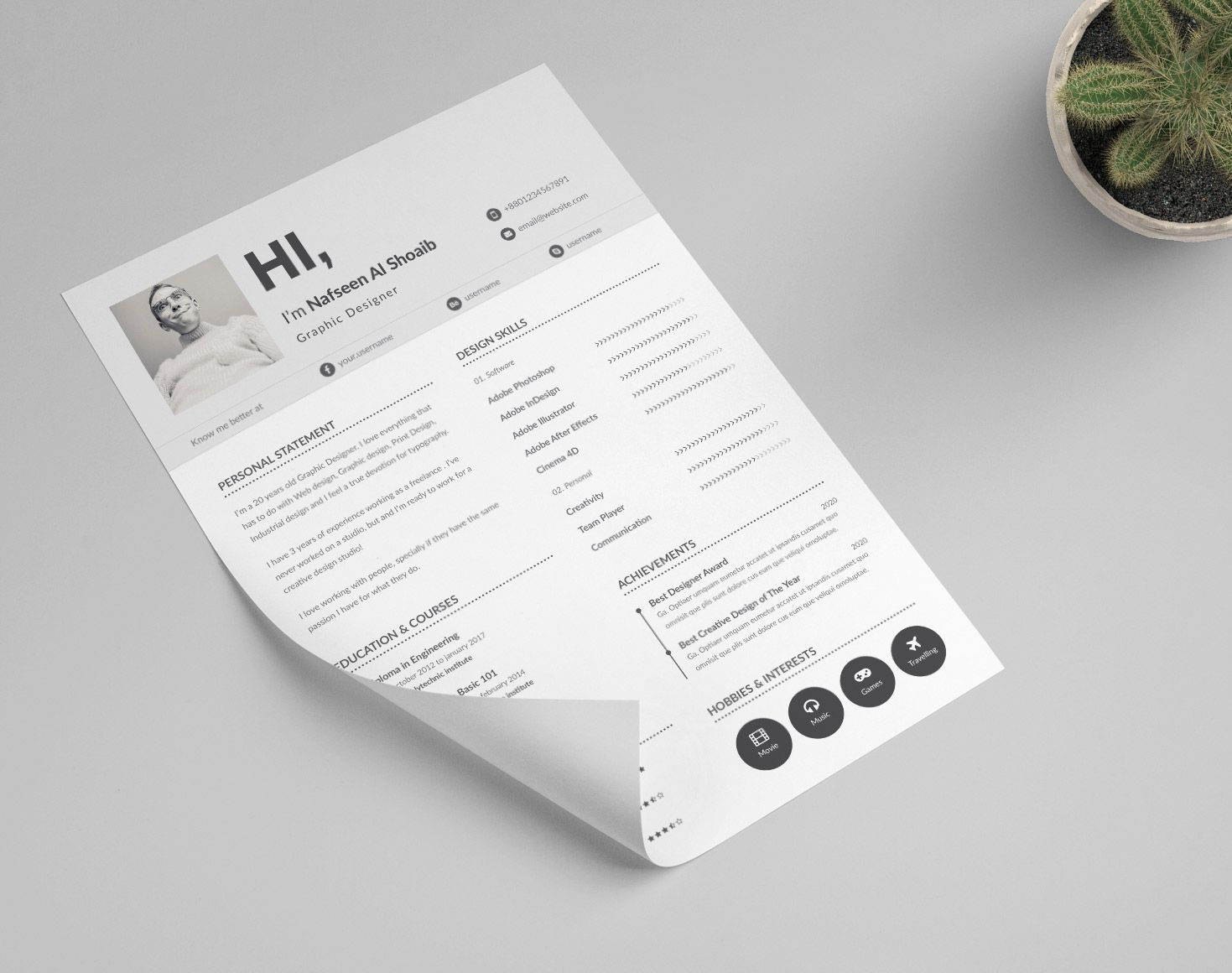 Beautiful Resume Templates 30 Eyecatching Professional And Beautiful Resume Templates  Template