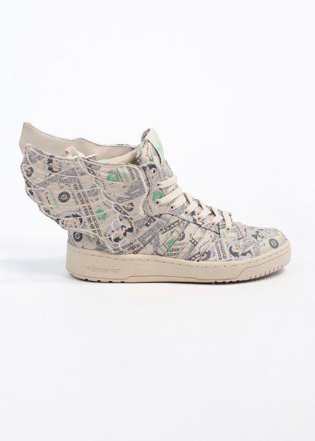 Adidas Originals x Jeremy Scott Wings 2.0 Money Trainers - White Vapour / Aloe - Pretty fly shoes.........