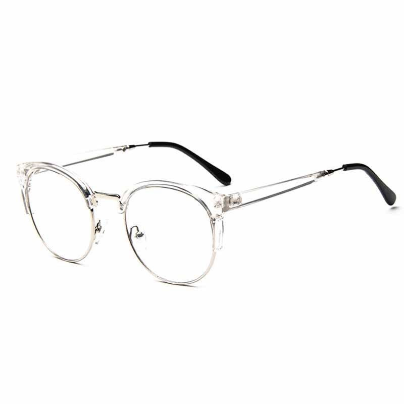 Fashion Cat Eye Half Metal Frame Glasses For Women/Men Retro Vintage ...