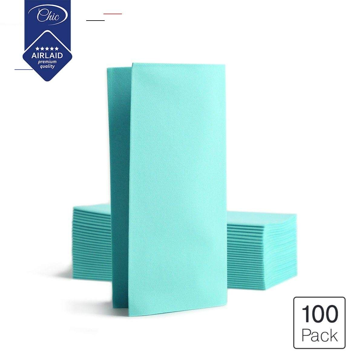 Seti Deluxe Folded Disposable Linen Feel Airlaid Dinner Party Paper Napkins Aqua 100 Pack Dining Papernapkins Make Your Own Mask These Thick Ultra Pl En 2020
