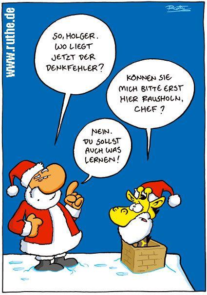 Weihnachtssprüche Chef In Witze Sprüche.Weihnachtsmann Schornstein Dach Giraffe Denkfehler Lernen Hno Hno Wg