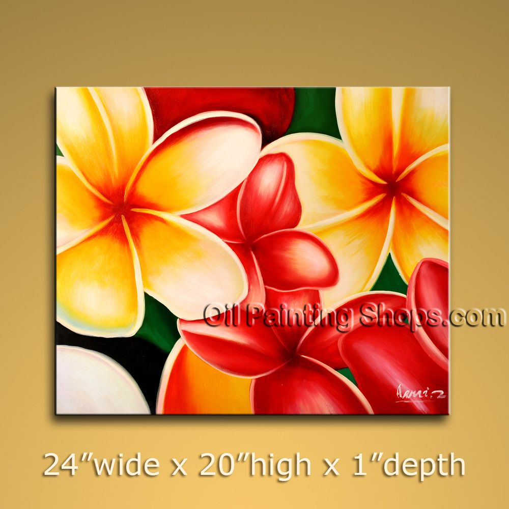 Amazing Contemporary Wall Art Floral Painting Egg Flower Oil Canvas ...