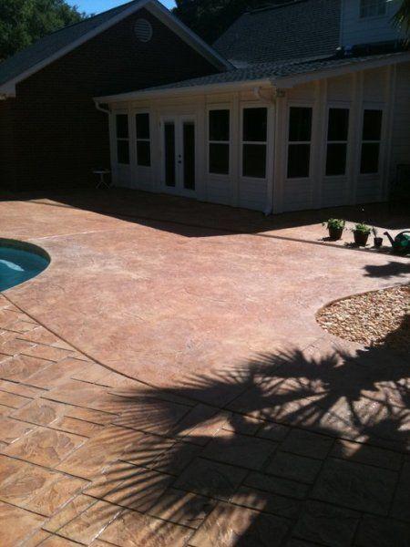 Stamped Concrete Pool Deck  Southeast Texas Decorative Concrete. Repin U0026  Click For More Info