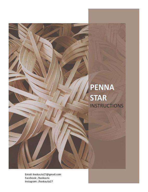 Woven Penna Star PDF digital instructions directions by Baskauta27