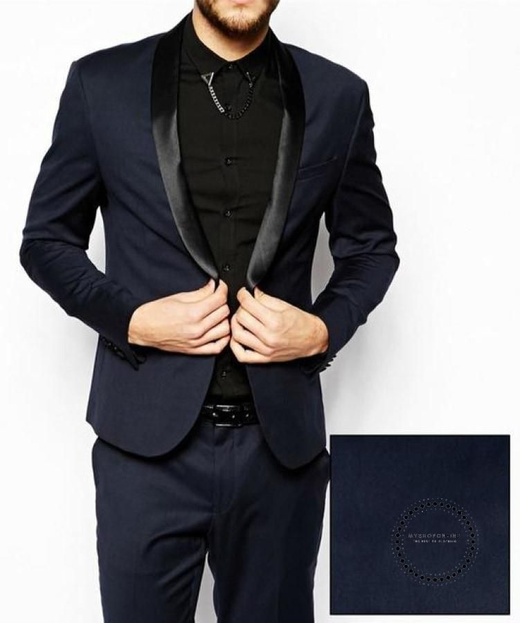 83e23c2dff45c4 Men Suits Navy Blue Wedding Tuxedos For Men Slim Fit Mens Suit Clothin –  myshoponline.com