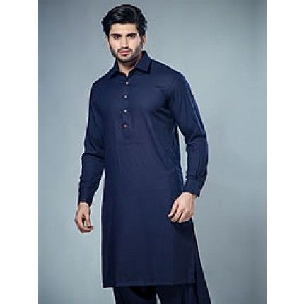 Marvelous Pakistani salwar kameez suit for men in navy blue colour ...