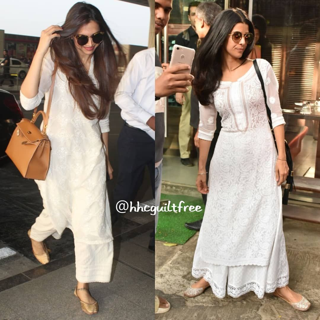 Details about  /Women Chikankari Cotton Kurta Ethnic Wear Lucknowi Chikan Kurti Top Shirt Dress