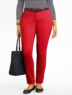 Talbots - Slimming Heritage Colored Denim Ankle Jeans | Sneak Peek | Woman