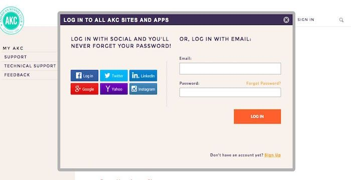 Akc Sign Up Register For Apps Akc Org Signup Akc Sign Up Page