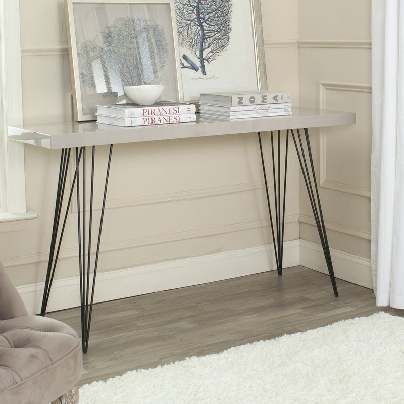 hallway desk furniture. Wooden Console Table Taupe Black Metal Iron Front Hall Hallway Office Furniture Desk