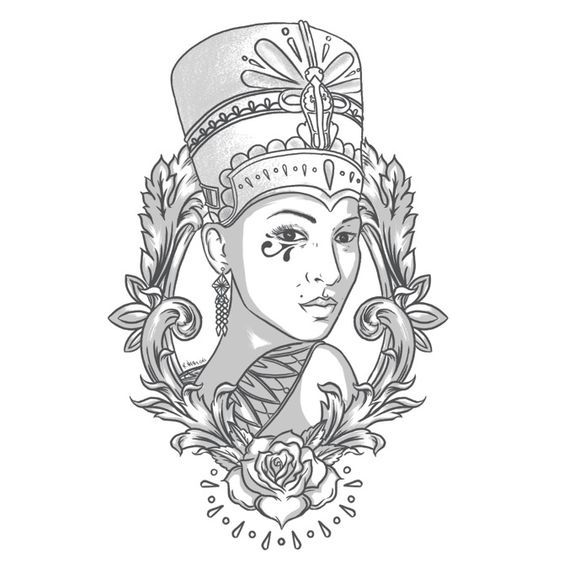 Resultado De Imagen De Nefertiti Manga Egyptian Tattoo Egyptian Queen Tattoos Nefertiti Tattoo