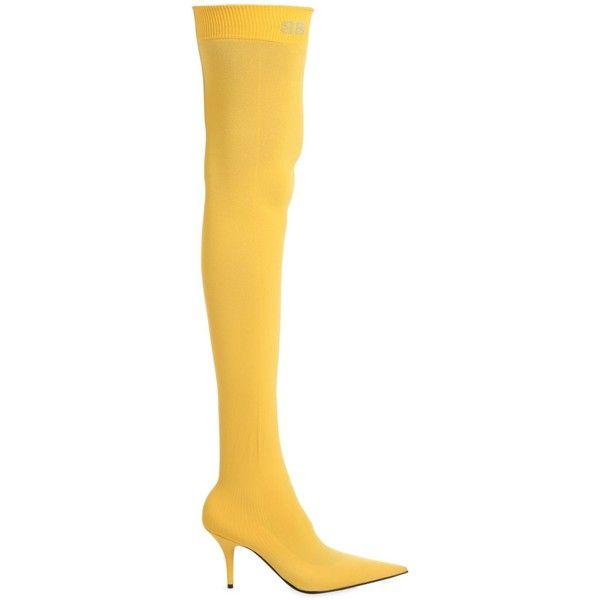 a49be1c321e Balenciaga Women 80mm Knife Jersey Over The Knee Boots ( 1