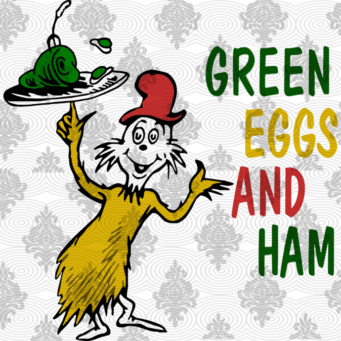 Green Eggs And Ham By Dr Seuss Green Egg And Ham Green Eggs Svg Cat In The Hat Thing 1 Thing 2 Dr Seuss S Dr Seuss Gifts Green Eggs And Ham Dr