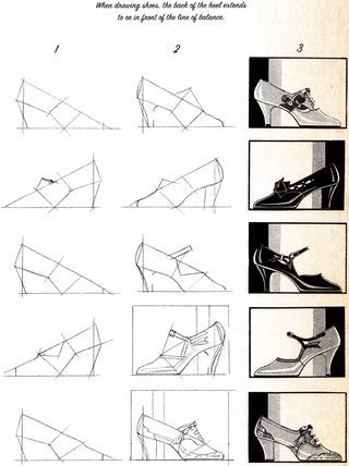 How To Draw Shoes From The Book How To Draw Paint Fashion Costume Design Fashion Drawing Shoe Design Sketches Fashion Painting