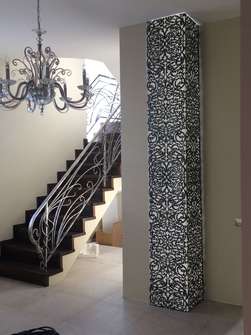 Kverkus Прорезной декор на заказ Laser Cut Screensinterior Stairscob Housesperforated Metalmetal Screensheet Artheavy