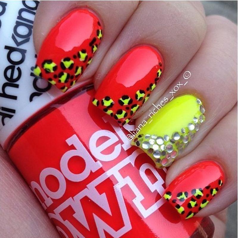 best fun nail designs with cheetah design   colleen hansen ...
