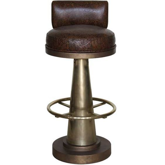 Brass Cone Bar Chair With Brass Footrest Bar Furniture Bar Stools Bar Furniture For Sale