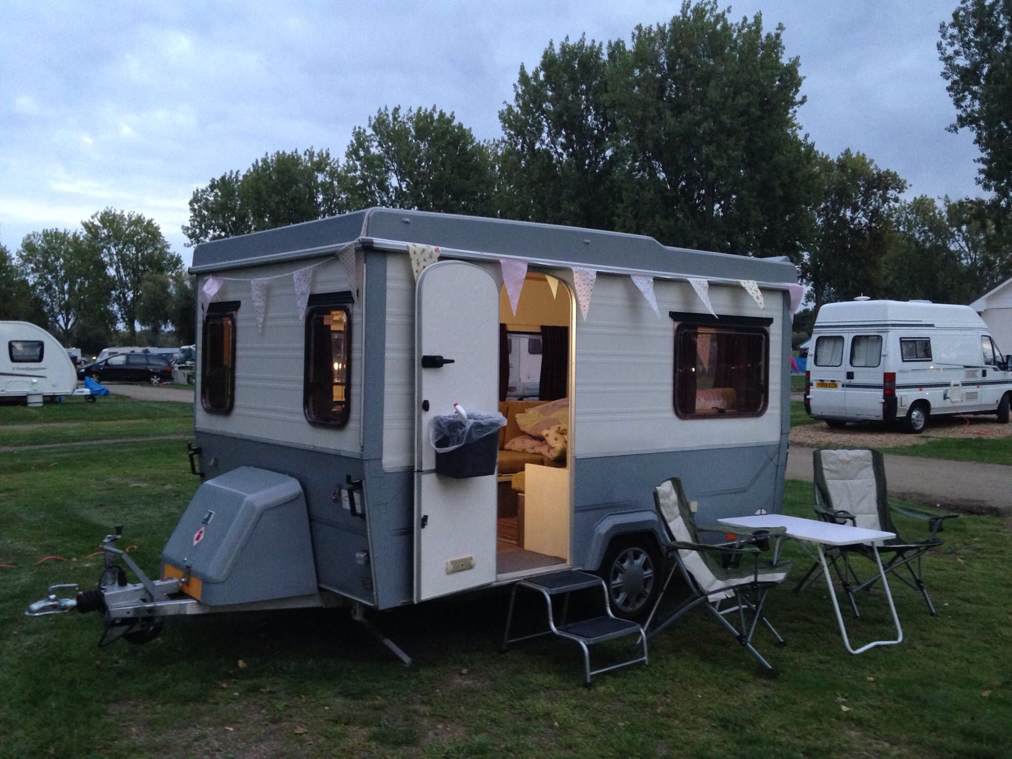 esterel supermatic folding camper with modern paint job. | esterel