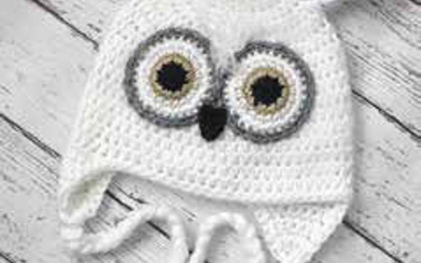 Cute Snow Owl Crochet Hat With Pattern - Crafts Ideas Free | beanies ...