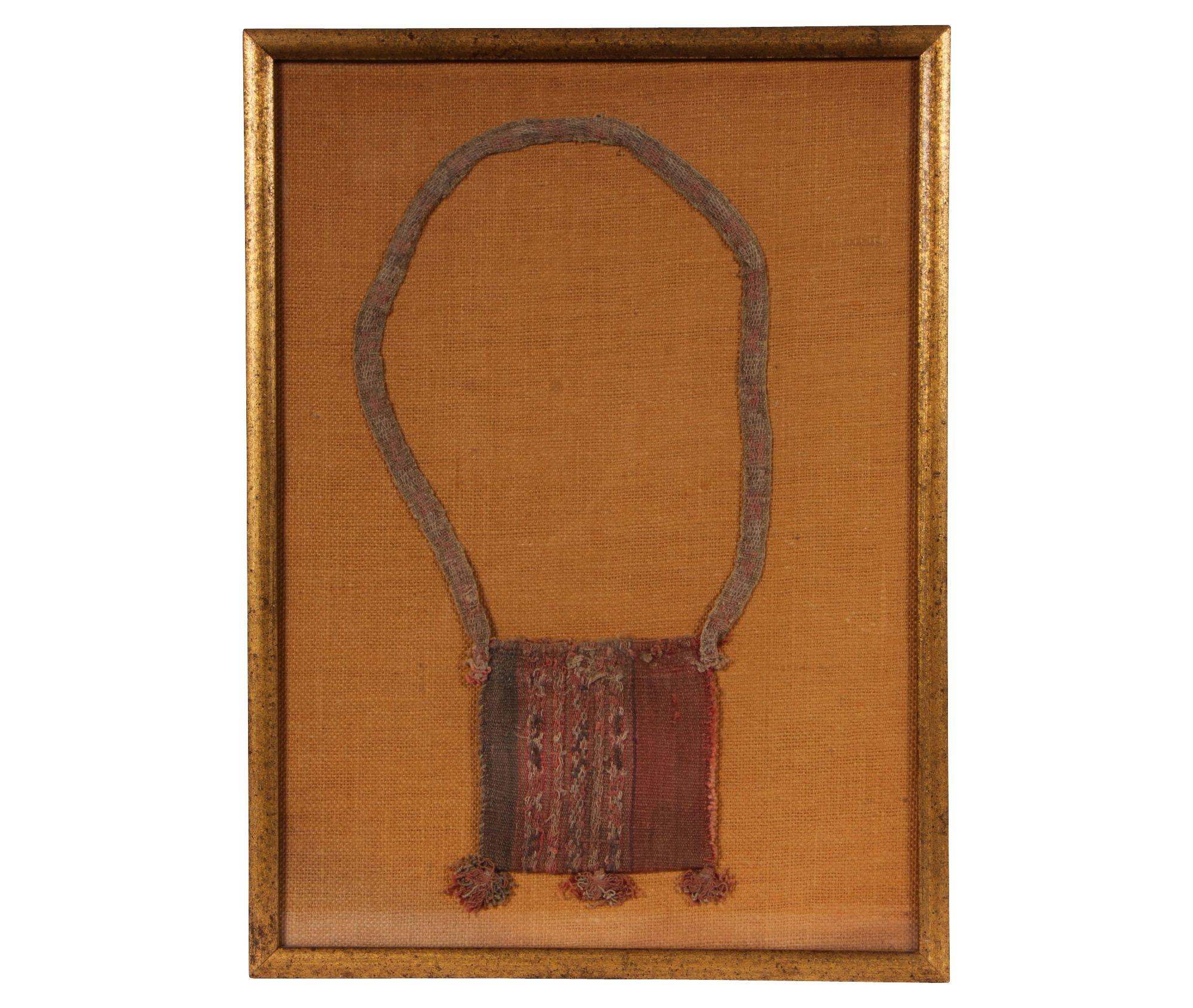 FRAMED PERUVIAN WOVEN COCA BEAN BAG Item #: 41255 $375.00