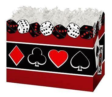 "Large Box Casino Nights 10¼"" x 6"" x 7½""-47069"