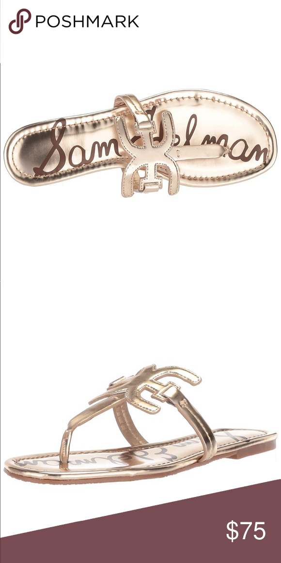 b7b87551f 🎉HP🎉NWT Sam Edelman Carter Flat Sandal Women s Carter Flat Sandal  Metallic Gold Sam