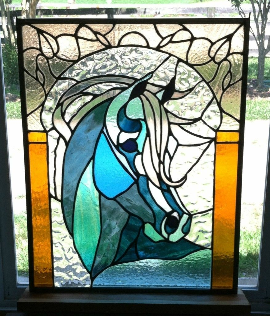 Original Stained Glass Arabian Horse Art